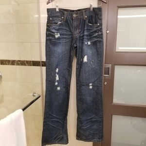 Seven7 mens jeans distressed SM71 boot 31/34